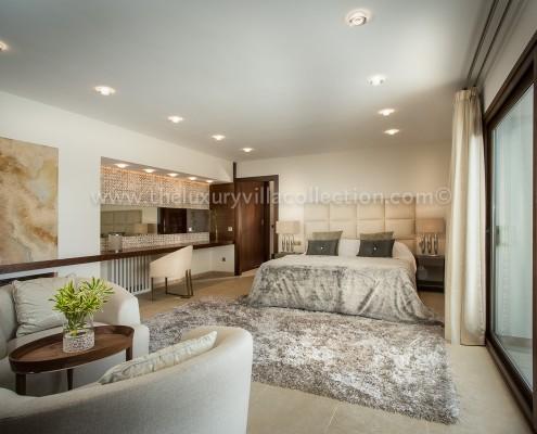 luxury bedroom Marbella villa rental