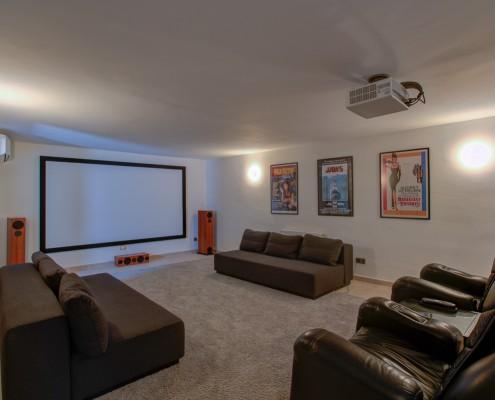 private cinema film room villa rental Marbella