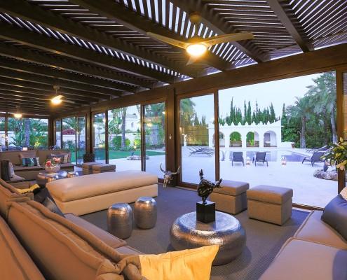 Relaxing lounge Marbella villa rental