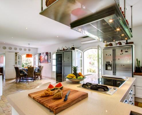 spacious villa kitchen