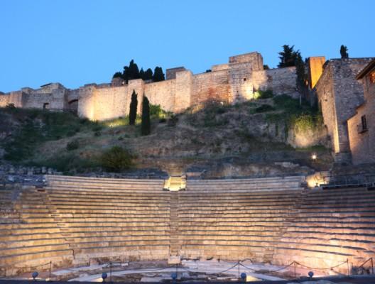 Roman amphitheatre ruin in Malaga