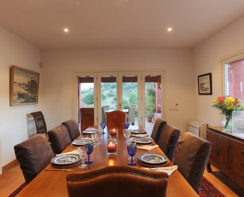Villa formal dining room