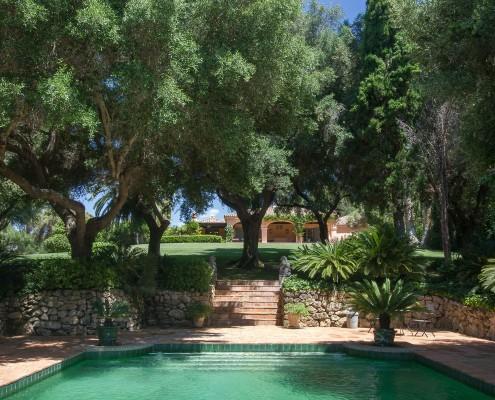 Secluded cortijo swimming pool