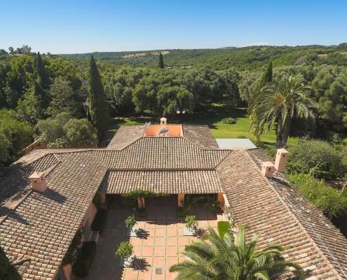 Luxury Spanish Cortijo from above