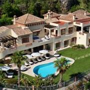 Villa aerial photo