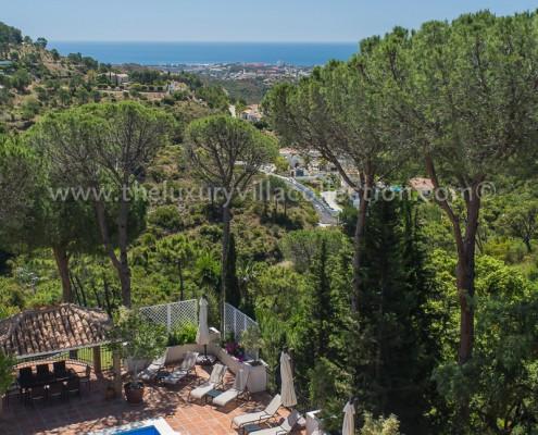 sea views villa rental marbella