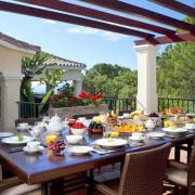 Villa Madroí±al 1 breakfast terrace rental villa