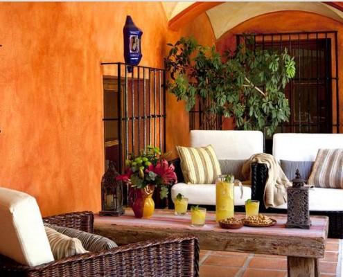 Moroccan patio at Madronal Luxury Villa