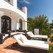 Marbella villa sun terrace