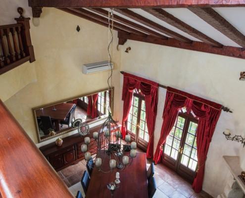 Baroque style dining space villa rental