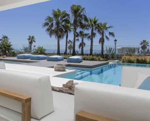 Marbella beach villa exteriors