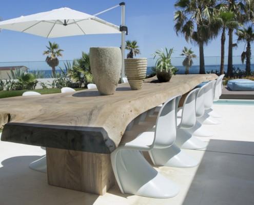 The Beach House, Puerto Banus villa dining