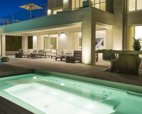 beach villa evening terrace