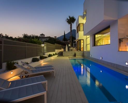 Poolside villa marbella rental