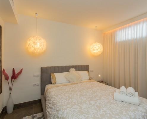 Modern Marbella villa guest bedroom