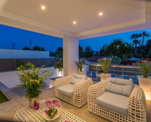 Villa terrace rental Marbella