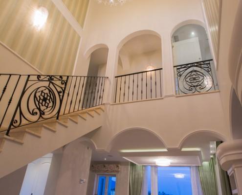 Luxury marbella villa hallway