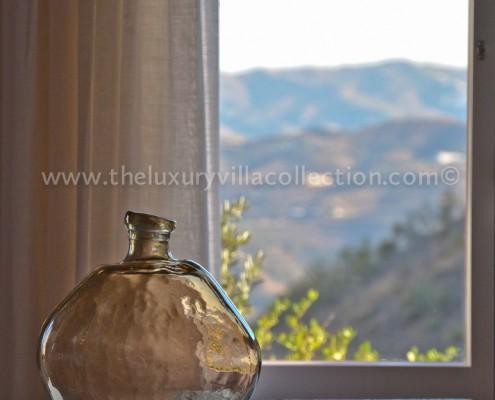 stylish interiors Malaga villa rental