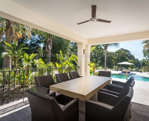 Villa Monterey rental Puerto Banus dining terrace