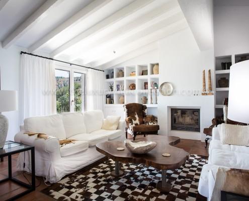 Malaga luxury villa stylish living room