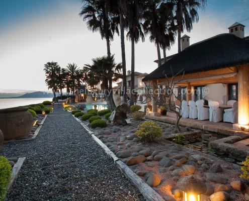 Villa Las Artes Marbella beachside dining