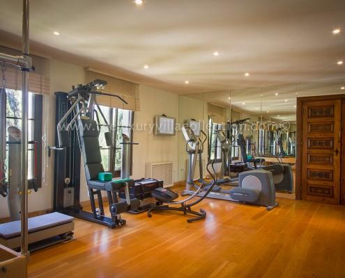 Villa Las Artes Marbella home gym