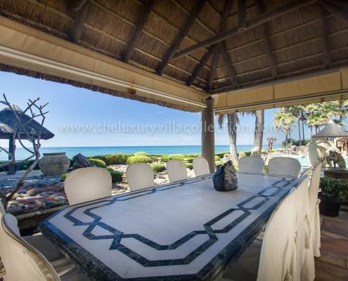Villa Las Artes Marbella sea view dining