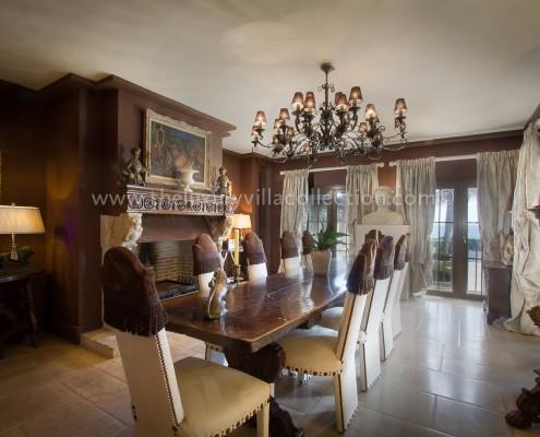 Villa Las Artes Marbella stately dining room