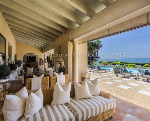 Villa Las Artes Marbella terrace