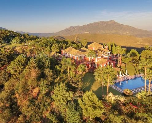 La Zagaleta Villa Aerial shot