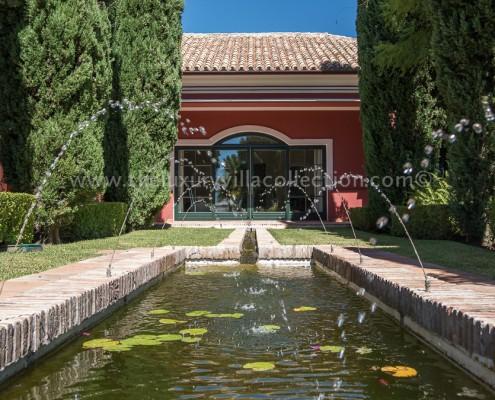 7 bedroom luxury villa for rent in la zagaleta luxury for Koi pool villa