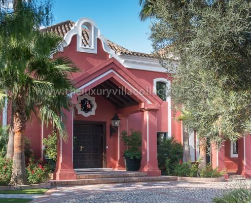 La Zagaleta Villa Vivaldi entrance to luxury villa