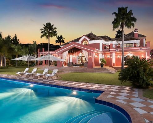 La Zagaleta luxury Marbella villa evening