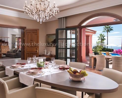 La Zagaleta luxury Villa Vivaldi dining room