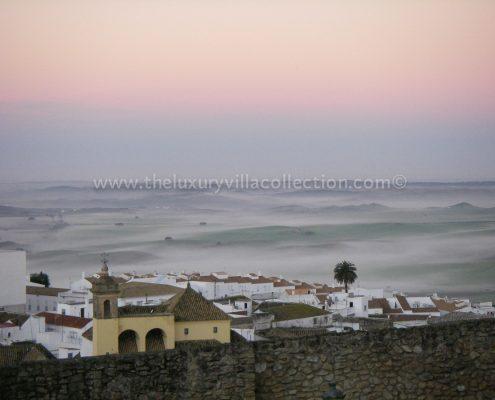 Early morning mist Medina Sidonia