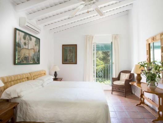 Casa Alegre luxury villa rental guest bedroom garden views