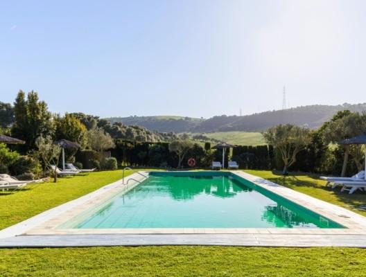 Hacienda Vejer luxury villa pool views