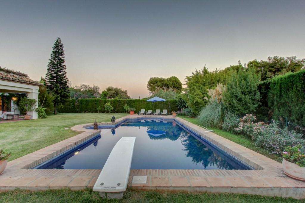 Villa Davinci luxury Marbella villa pool dusk