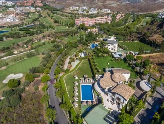 Villa Los Flamingos 2 Marbella villa aerial view