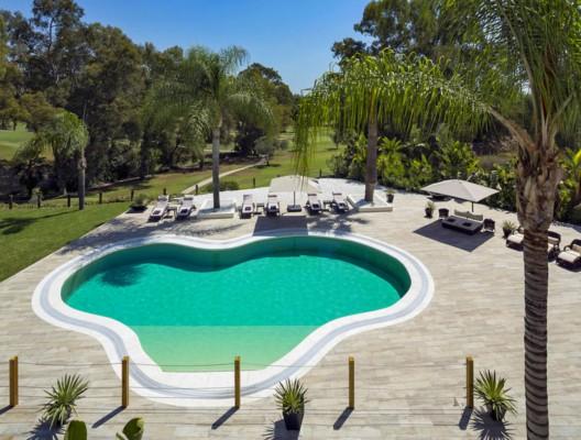 Villa Monterey Aerial View Garden_