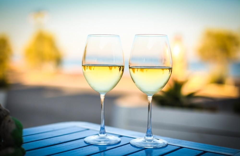 two glasses of white rioja