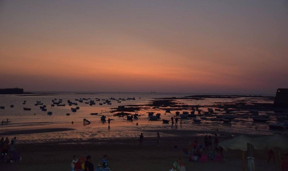 Sunset at Playa de Caleta, Cadiz