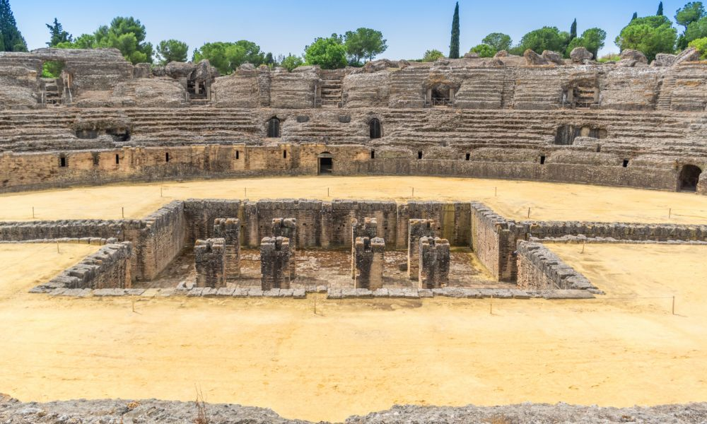 Italica near Seville in Spain