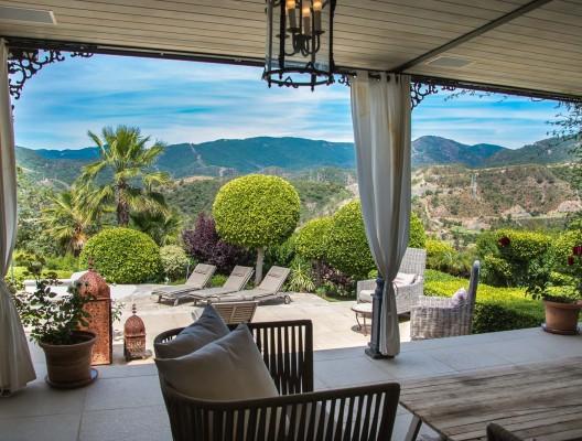 Luxury Villa La Zagaleta mountain view from terrace