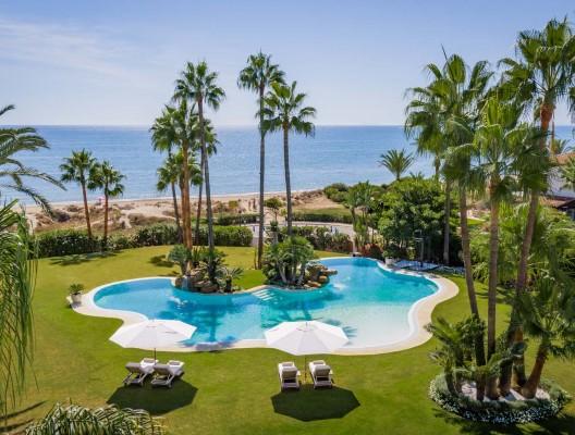 Villa Oceane Luxury Villa Marbella aerial garden view to sea – Copy