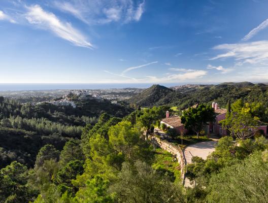 Villa Garza Luxury Villa Marbella aerial view 3