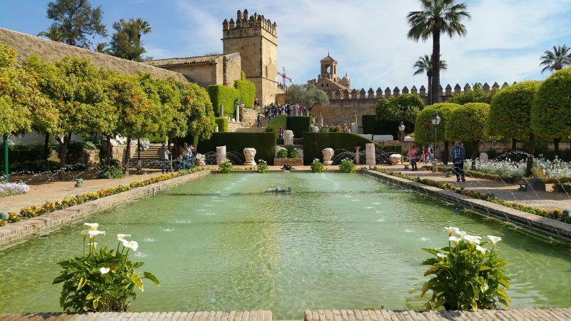Alcazar Gardens in Sevilla