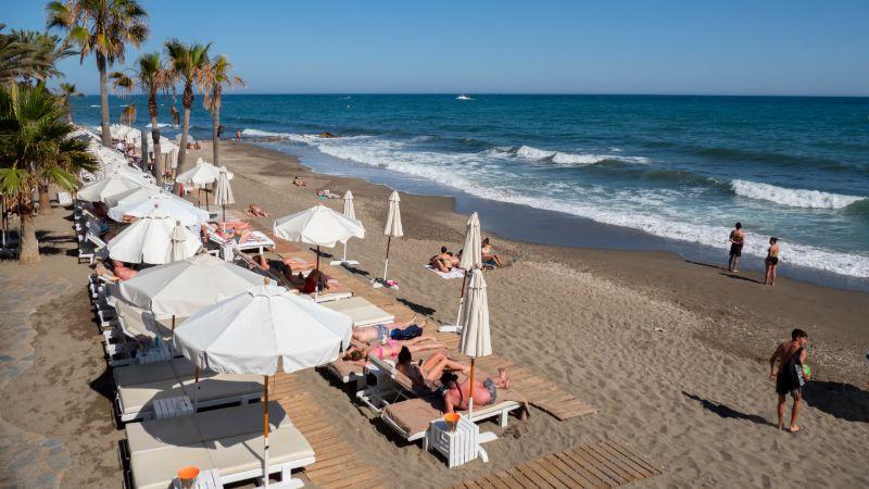 Sunbathers at the Beach in Marbella